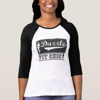 T-shirt Brillez le base-ball chic convenable 3/4 chemise