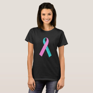 T-shirt Brin rose et de Teal BRCA d'ADN