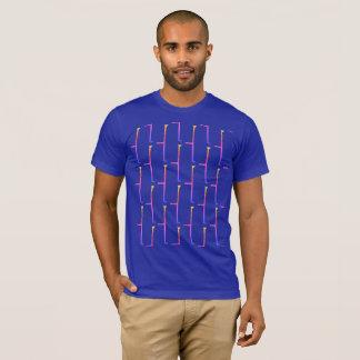 T-shirt Brique bleue d'arc-en-ciel