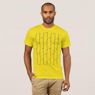 T-shirt Brique grise jaune
