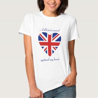 T-shirt BRITANNIQUE d'amoureux de drapeau