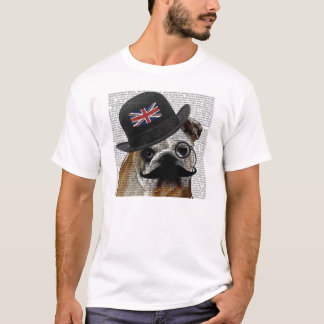 T-shirt britannique de bouledogue