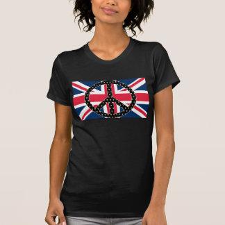 T-shirt britannique de crânes de paix