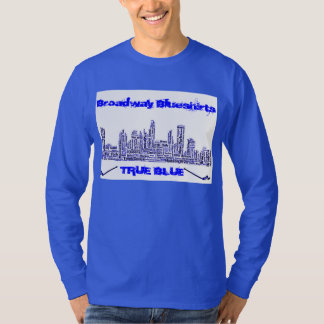 T-shirt Broadway Blueshirts véritable Longsleeve bleu