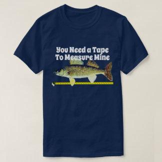 T-shirt Brochets vairons drôles Pike et ruban métrique