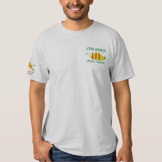 T-shirt Brodé 1/77th Armure Vietnam M48A3 et chemise d'insignes