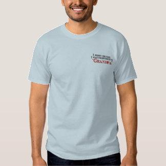 T-shirt Brodé Amusement favorisé au grand-papa