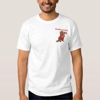 T-shirt Brodé Castor fièrement canadien