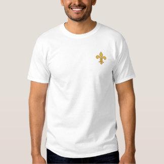 T-shirt Brodé Chemise brodée lis de fleur de d'or