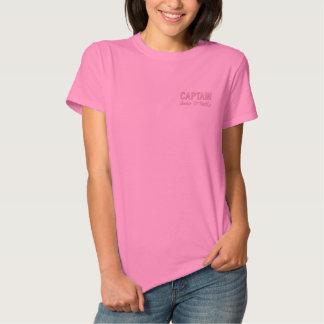 T-shirt Brodé Chemise brodée par pêche rose personnalisée