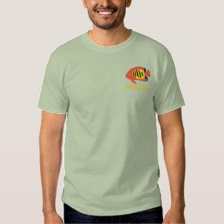 T-shirt Brodé Chemise brodée par scalaire de flamme (polo)