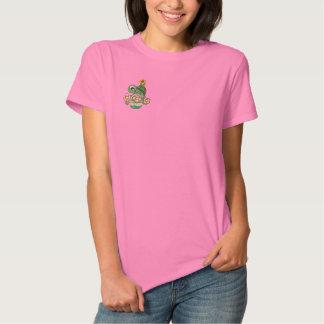 T-shirt Brodé Chemise brodée par tortue mignonne