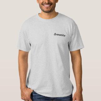 T-shirt Brodé Corvette a brodé la chemise