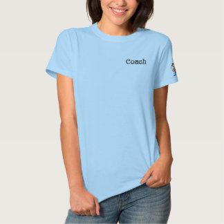 T-shirt Brodé Dames brodées par base-ball d'entraîneur
