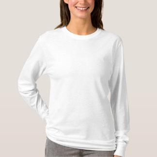 T-shirt brodé de la douille des femmes long