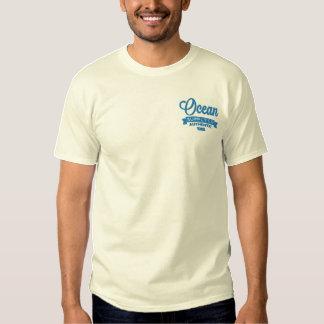 T-shirt brodé de logo d'OSCILLATEUR