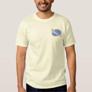 T-shirt Brodé Faire du ski nautique