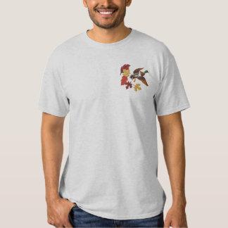 T-shirt Brodé Feuille de canard et d'automne de vol