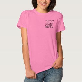 T-shirt Brodé Gandhi et traitement humanitaire des animaux