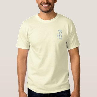 T-shirt Brodé Girafe