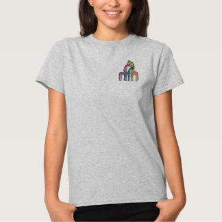 T-shirt Brodé Girafe Whimsey
