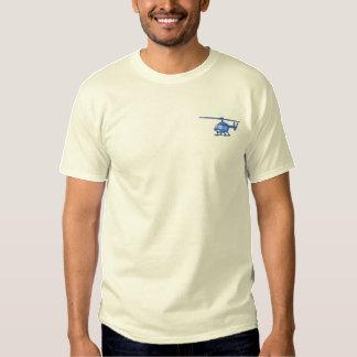 T-shirt Brodé Hélicoptère