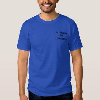 T-shirt Brodé JanssenForGovernor.com aj
