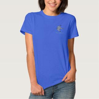 T-shirt Brodé La chemise brodée par obscurité des dames de