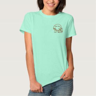 T-shirt Brodé Maman de chat de Ronronnement-fect