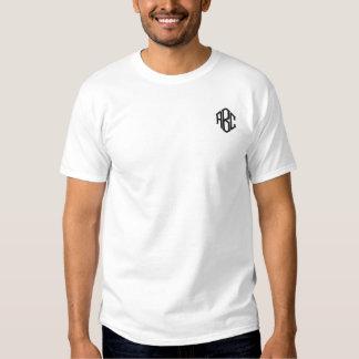 T-shirt Brodé Modèle du monogramme des hommes brodés par blanc