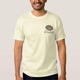 T-shirt Brodé Mon chien bascule la broderie sur la chemise