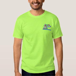 T-shirt Brodé Patineur de vitesse
