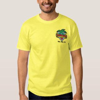 T-shirt Brodé Pièce en t tropicale de cuvette (personnaliser
