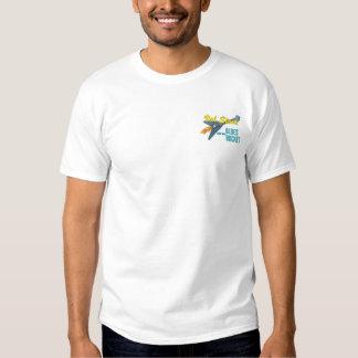 T-shirt Brodé Val Starr et logo de Rocket de bleus le petit