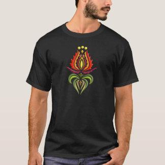 T-shirt Broderie de fantaisie de manteau - art populaire