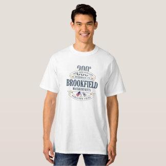 T-shirt Brookfield, le Massachusetts 300th Ann. White