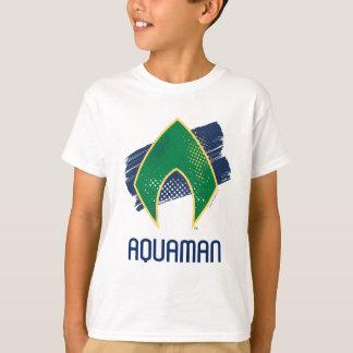 T-shirt Brosse de la ligue de justice | et symbole tramé