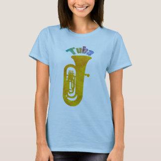 T-shirt Bruit coloré de tuba d'or