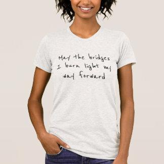 T-shirt brûlé de ponts