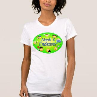 T-shirt Brume décontractée de jaune de scoop de dames