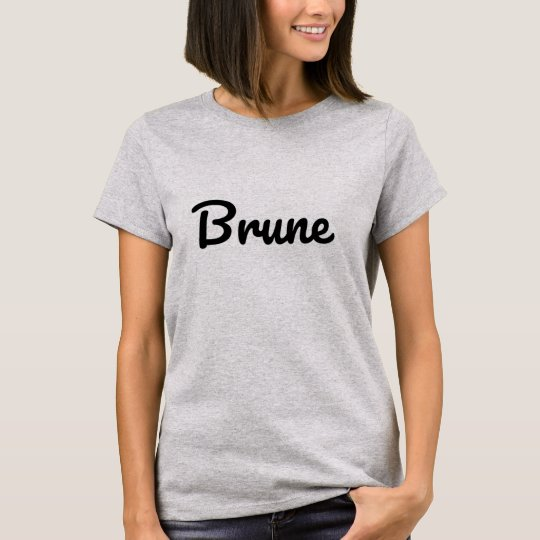T-shirt Brune