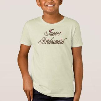 T-Shirt Bruns chics de demoiselle d'honneur junior