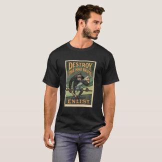 T-shirt Brute folle de propagande de WWI