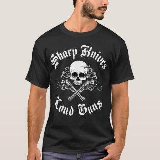 T-shirt bruyant d'armes à feu de couteaux pointus