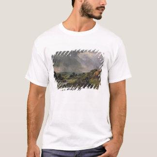 T-shirt Bruyère de Hampstead, étang de colline de branche,