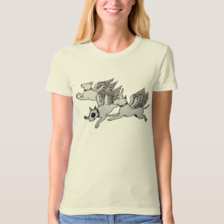 T-shirt Bulls-terrier de vol