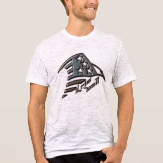 T-shirt Burn-out américain T d'Eagle de roche