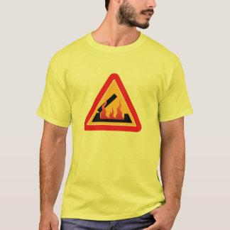 T-shirt Burning de pont