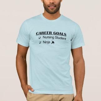 T-shirt Buts de carrière de Ninja - étudiant de soins