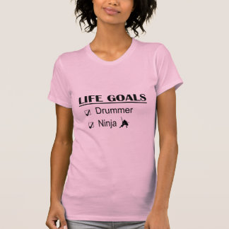 T-shirt Buts de la vie de Ninja de batteur
